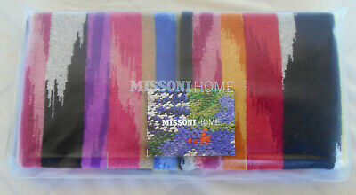 £28 • Buy MISSONI HOME TWO HAND TOWELS COTTON VELOUR HOMER 156 BRANDED PACKAGING  40x70 Cm