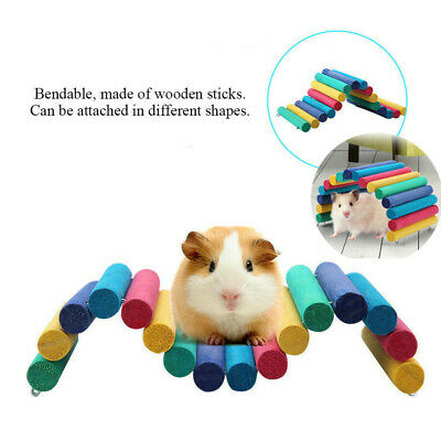 £6.79 • Buy Colorful Wooden Bridge Pet Hamster Guinea Pig Rat Ladder House Playing Toys #FX