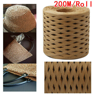 £6.39 • Buy 200m DIY String Raffia Scrapbook Roll Paper For Cord Crafts Twine Rope #FX