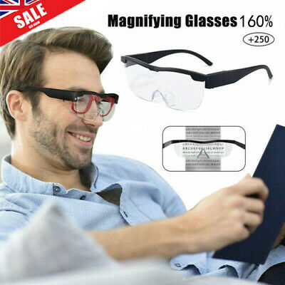 £8.49 • Buy LED Magnifying Glass Magnification 160% Magnifying Glass Glasses With LED Light