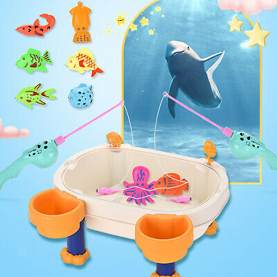 £13.55 • Buy Children Fishing Table Toys Magnetic Fishing Game Sand Water Learning Gift