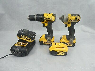 £104 • Buy Dewalt XR 18v Cordless Drill & Driver With 4 Batteries And Charger All Used
