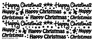 £1.95 • Buy Peel Off Stickers - Happy Christmas - Card Making - Crafting - 785