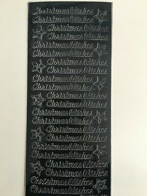 £1.95 • Buy Peel Off Stickers - Christmas Wishes -  Black - 594