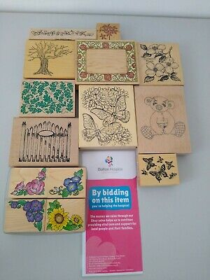 £5.50 • Buy 14 Rubber Stamps. Craft. Ink. Floral. Butterfly. Card Making. Job Lot #5926