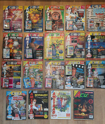 £16 • Buy Amstrad CPC 464 / 664 / 6128 - Amstrad Action Magazine X18 Issues - 1990/1992