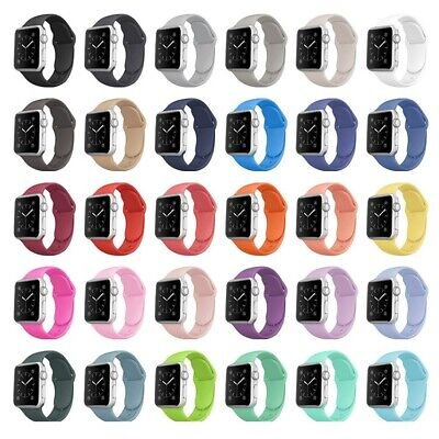 AU5.70 • Buy Apple Watch Silicone Sports Band Series 6 5 4 3 2 1 SE 44mm 42 40mm 38mm Strap