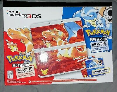 $725 • Buy New Nintendo 3DS Pokemon 20th Anniversary Red/Blue Edition Console + Extras!