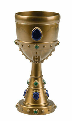 £7.50 • Buy 18CM Tall Bronze Jewelled Effect Medieval Goblet Party Prop