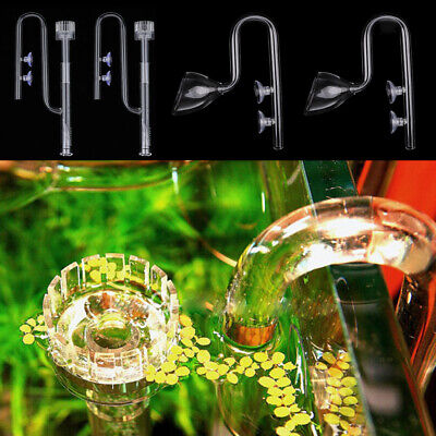 £46.15 • Buy 4x Φ13 Glass Pipe Inflow Oil Film Surface Skimmer Outflow Lily Pipe Aquarium