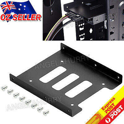 AU4.77 • Buy 2.5 Inch To 3.5 Inch SSD HDD Adapter Rack Hard Drive SSD Mounting Bracket NEW