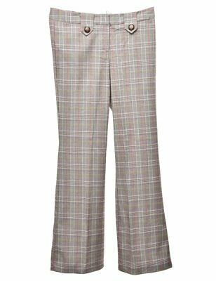 £32 • Buy Vintage Checks Flared Trousers - W30