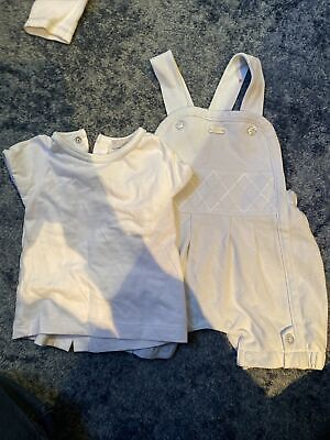 £6 • Buy Coco Baby Boy T Shirt And Dungaree Set - Age 0-3 Months - VG Used Condition