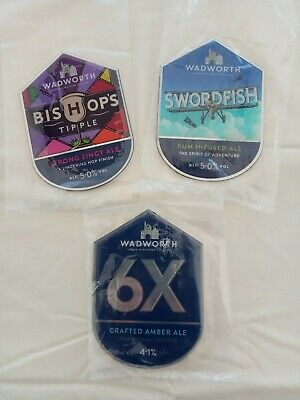 £4 • Buy Wadworth Brewery Collectable Beer Pump Clips X 3.