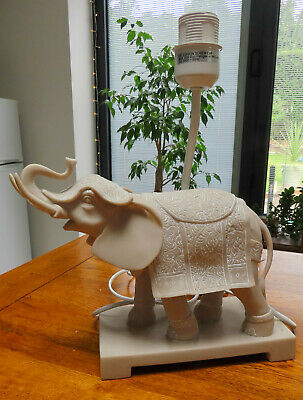 £39.96 • Buy *WOW* ELEPHANT With Trunk Up & In Dress Robes Detailed Resin Table / Desk Lamp