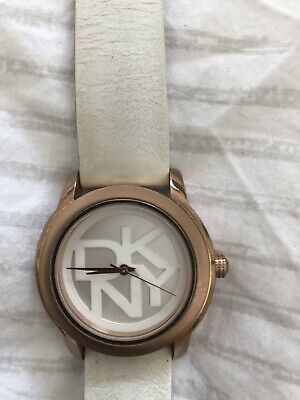 £10 • Buy DKNY Rose Gold Watch With White Strap . Used