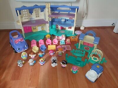 £21 • Buy Fisher Price Little People Bundle Family Doll House With Furniture Cars People