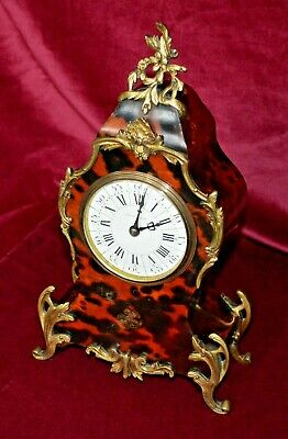 £258 • Buy Antique Victorian French Red Shell & Ormolu Mappin & Webb Mantle Clock Working