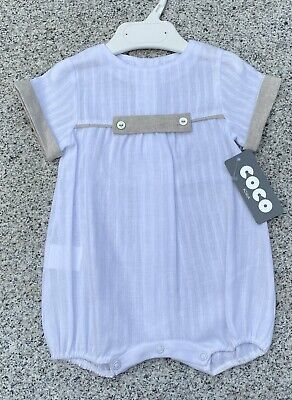 £15.99 • Buy Baby Boys Coco Designer Romper/ Playsuit Ideal Wedding, Christening Age 3 Months