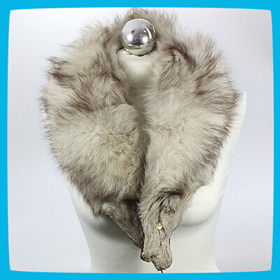 £19.99 • Buy Women's Winter Collar Scarf Tippet Scarve Shawl Stole Natural Silver Fox Fur