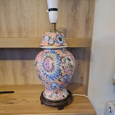£39.95 • Buy Pink Blue Table Lamp Patterned Vintage Traditional  Ceramic Base 45cm Height