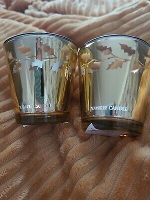 £4 • Buy Yankee Candle 2 Gold Holly Votive Holder