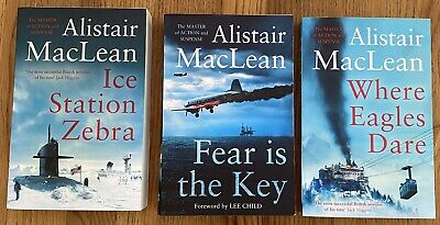 £2.99 • Buy Alistair MacLean Where Eagles Dare Ice Station Zebra Fear Is The Key