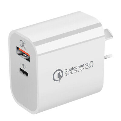 AU11.49 • Buy 18W USB PD Type-C Quick Fast Wall Charger Adapter IPhone 12 11 Samsung AU PLUG