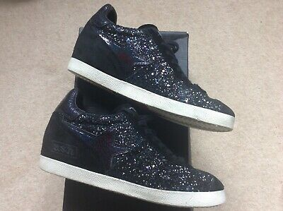 £10 • Buy ASH GUEPARD Low-Wedge Trainers Midnight Glitter/ Black SuedeSize 38