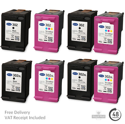 £14.95 • Buy Remanufactured HP 302 & 302XL Ink Cartridges For HP Envy 4520 Printers