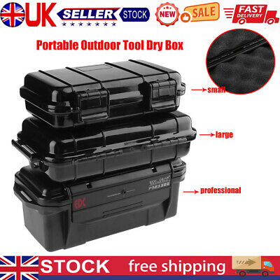 £9.70 • Buy Outdoor Shockproof Sealed Waterproof Safety Case ABS Plastic Tool Dry Box UK