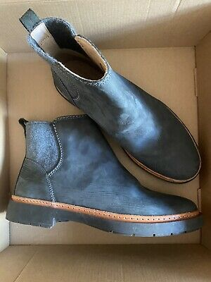 £25 • Buy Women's Boots Clarks Trace Fall Chelsea Ankle Boots Dark Grey Leather UK 8.5 New
