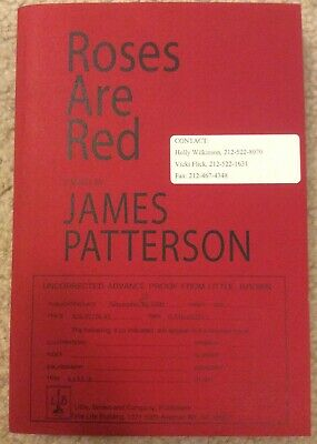 £18.18 • Buy Roses Are Red By James Patterson Uncorrected Advance Proof (Galley, ARC)
