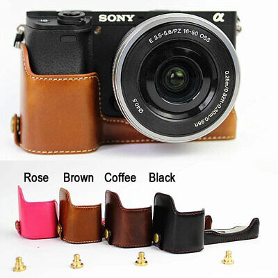 AU16.01 • Buy Leather Protect Half Case Grip For Sony Alpha A6400 A6300 A6100 A6000 Camera