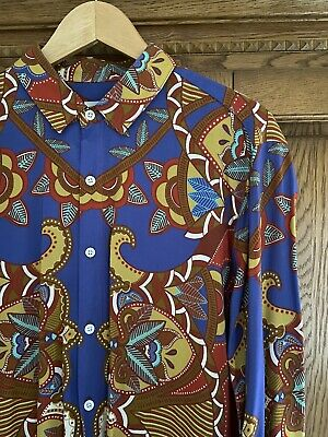 £3.99 • Buy Topman Mens Indian Style Floral Long Sleeve Shirt Size Large Worn Once VGC Retro