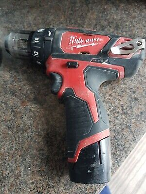 £30 • Buy Milwaukee M12 BPD 12V Cordless Hammer Drill Sold With 1.5AH Replacement  Battery