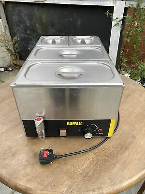 £130 • Buy Buffalo Bain Marie With Tap, Pans And Lids Electric Food Warmer