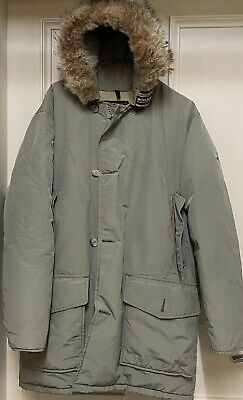 £18 • Buy Woolrich Green Arctic Parka Hooded Padded Down Coat Jacket - Small (Grade B)