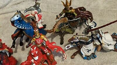 £100 • Buy 48 X Papo Knights, Horses And Mystical Creatures. Bundle. Figures.
