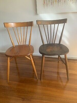 AU69 • Buy Two Vintage Dinning Kitchen Chairs Retro Mid Century Melchair