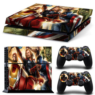 AU14.95 • Buy Playstation 4 PS4 Console Skin Decal Sticker Avengers +2 Controller Skin