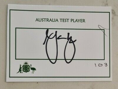AU30 • Buy Mark Waugh Cricket Signed In Person Test Player Card Australia England