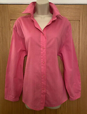 £4.80 • Buy Penny Plain Ladies Barbie Pink Soft Cotton Shirt Blouse Summer Large 46in Chest