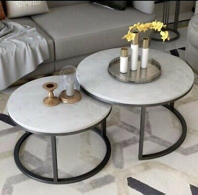 AU360 • Buy Real Marble Nest Coffee Table Set Of Two