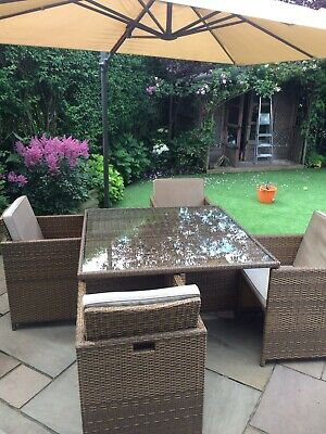 £350 • Buy Rattan 8 Seater Cube Garden Furniture Set Used - Get In Time For Bank Holiday