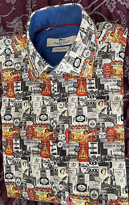 £15.50 • Buy Claudio Lugli London Themed Print Men's Shirt In Excellent Condition Size L/M