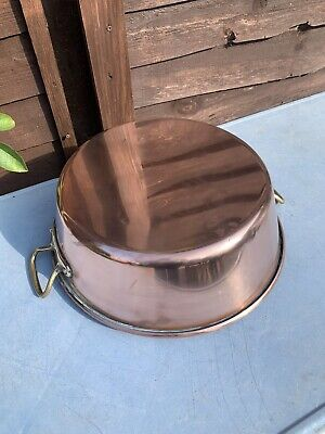 £55 • Buy Vintage French Copper Confiture Conserves Jam Making Pan Catering Cooking Pot