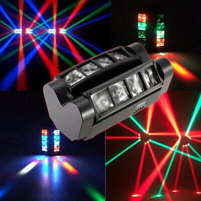 £59.99 • Buy 80W 8LEDs Spider Moving Head Stage Lighting LED DMX Disco DJ Party Shows Light