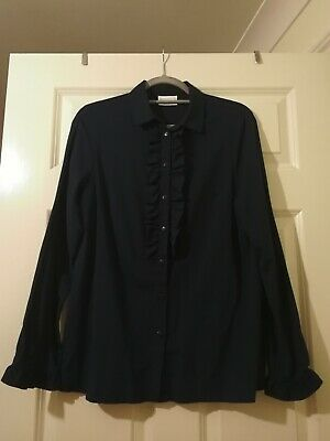 £15 • Buy Cotswold Collections Button Up Shirt Blouse Dark Blue UK 12