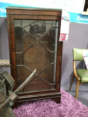 £30 • Buy Z546 Mahogany Display Cabinet Antique Wood Mid Century Vintage Bookcase Glass